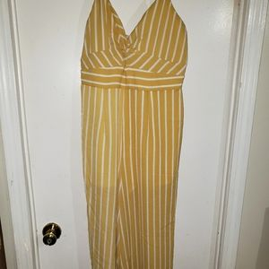 Yellow & White Pinstripe - •Crystal Sky•  Jumpsuit